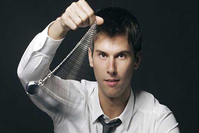 Hypnotist swinging watch