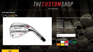 Screenshot Taylormade website