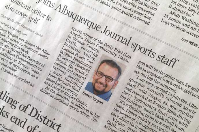 Albuquerque Journal Sports Page Feb. 1, 2018