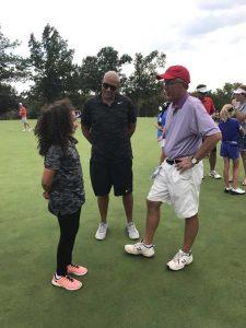 Callia Ward at Drive Chip & Putt at Southern Hills Country Club in Tulsa