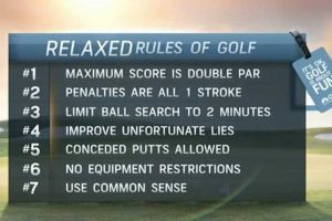 Rules of Golf for Seniors