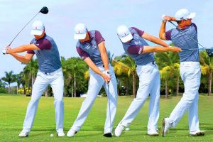 Multi-image golf swing sequence