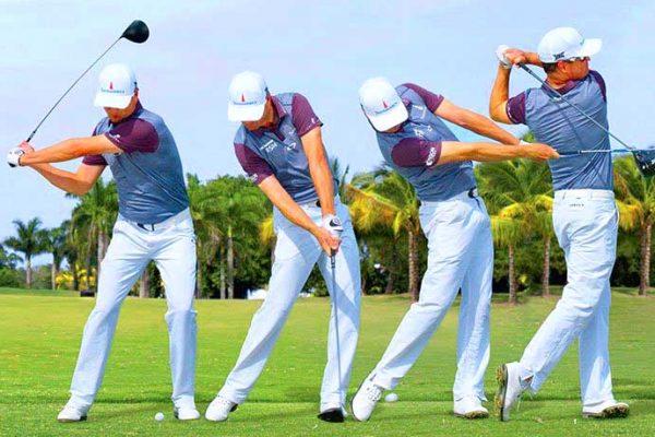Multi-image golf swing sequence