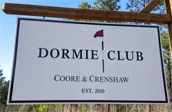 Sign over the Dormie Club