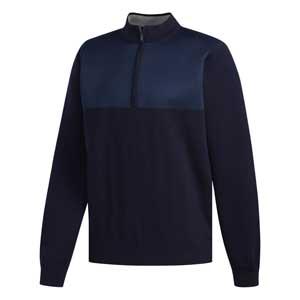 Navy wind golf sweater