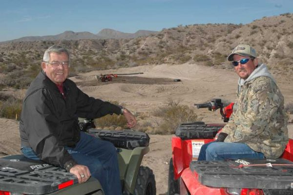 Guy Wimberly and Todd Lepisto in 2006 during construction of Sierra del Rio Golf Course