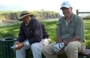 Jack Brant and Caddie Pebble Beach No. 5