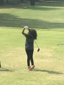 Callia Ward last September during Drive Chip & Putt competition