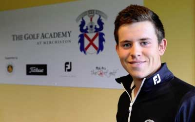 Calum Hill at Merchiston Golf Academy in Edinburgh