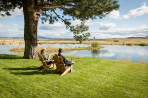 Couple relaxing at Silvies Valley Ranch