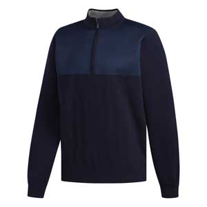 Navy wind golf sweater