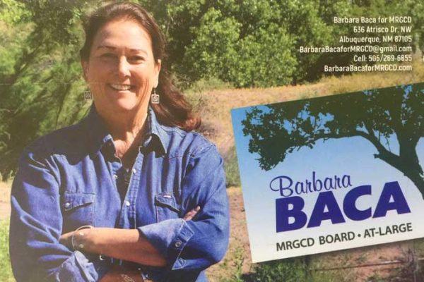 Barbara Baca MRGCD candidate