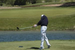 David Muttitt tees off at the Sun Xountry PGA Mazek Matches
