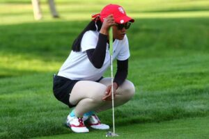 Napat Jenny Lertsadwattana, a memebr of the women not the UNM Lobo men golfers